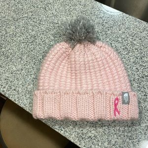 LIKE NEW North Face Pink Ribbon Beanie